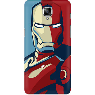 new style bcf6c 14085 TLG - Iron Man PosterDesigned, Hard Case, 3D Matte finish Back Cover for  OnePlus 3T
