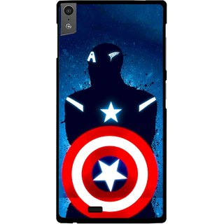 Snooky Printed America Sheild Mobile Back Cover For Gionee Elife S5.5 - Blue