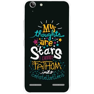Snooky Printed Thoughts Are Stars Mobile Back Cover For Lenovo Vibe K5 Plus - Black