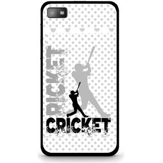 Snooky Printed Cricket Mobile Back Cover For Blackberry Z10 - White