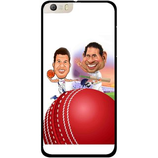 Snooky Printed Play Cricket Mobile Back Cover For Micromax Canvas Knight 2 E471 - White