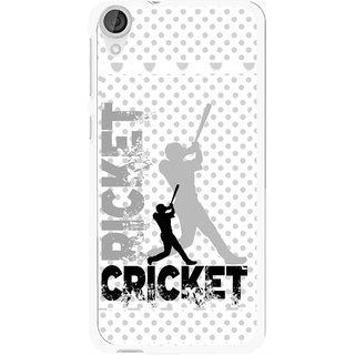 Snooky Printed Cricket Mobile Back Cover For HTC Desire 820 - White