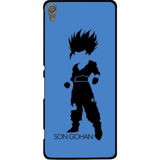 Snooky Printed Son Gohan Mobile Back Cover For Sony Xperia XA1 - Blue