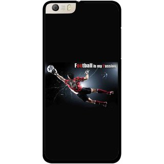 Snooky Printed Football Passion Mobile Back Cover For Micromax Canvas Knight 2 E471 - Black