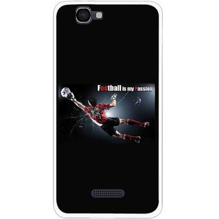 Snooky Printed Football Passion Mobile Back Cover For Micromax Canvas 2 A120 - Black