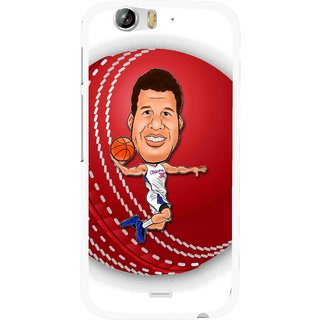 Snooky Printed Cricket Club Mobile Back Cover For Micromax Canvas Turbo A250 - White