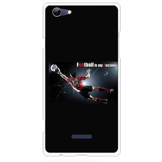 Snooky Printed Football Passion Mobile Back Cover For Micromax Canvas Selfie 3 Q348 - Black