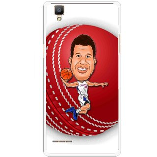 Snooky Printed Cricket Club Mobile Back Cover For Oppo F1 - White