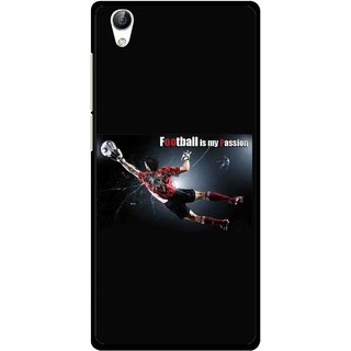 Snooky Printed Football Passion Mobile Back Cover For Vivo Y51L - Black