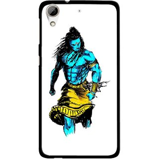 Snooky Printed Bhole Nath Mobile Back Cover For HTC Desire 626 - White