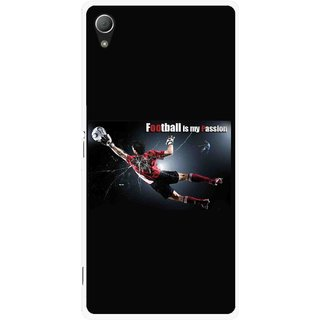 Snooky Printed Football Passion Mobile Back Cover For Sony Xperia Z3 - Black