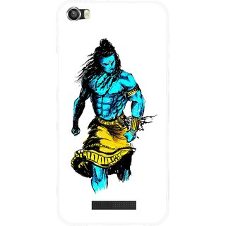 Snooky Printed Bhole Nath Mobile Back Cover For Lava Iris X8 - White