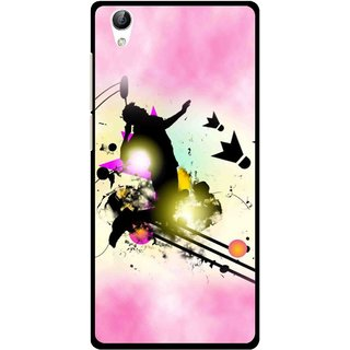 Snooky Printed Flying Man Mobile Back Cover For Vivo Y51L - Pink
