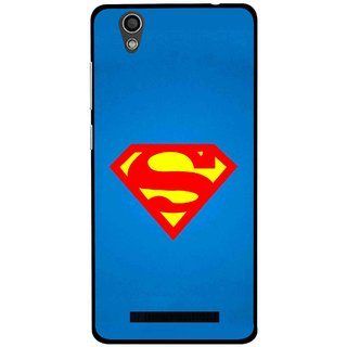 Snooky Printed Super Logo Mobile Back Cover For Gionee F103 - Blue