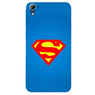 Snooky Printed Super Logo Mobile Back Cover For HTC Desire 826 - Blue