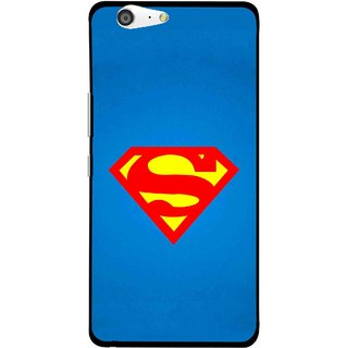 Snooky Printed Super Logo Mobile Back Cover For Gionee Marathon M5 - Blue