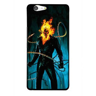 Snooky Printed Ghost Rider Mobile Back Cover For Gionee Marathon M5 - Blue