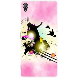 Snooky Printed Flying Man Mobile Back Cover For Sony Xperia Z3 - Pink