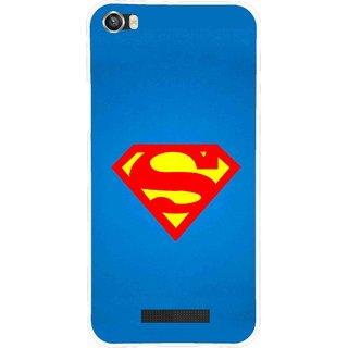 Snooky Printed Super Logo Mobile Back Cover For Lava Iris X8 - Blue