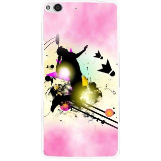 Snooky Printed Flying Man Mobile Back Cover For Gionee Elife E6 - Pink