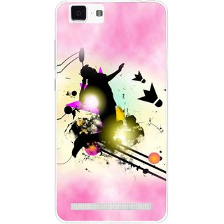 Snooky Printed Flying Man Mobile Back Cover For Vivo X5 Max - Pink