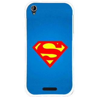 Snooky Printed Super Logo Mobile Back Cover For Lava X1 Mini - Blue