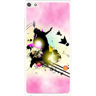 Snooky Printed Flying Man Mobile Back Cover For Gionee Elife S7 - Pink
