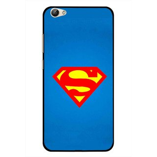 Snooky Printed Super Logo Mobile Back Cover For Vivo Y55 - Blue