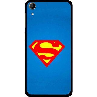 Snooky Printed Super Logo Mobile Back Cover For HTC Desire 728 - Blue