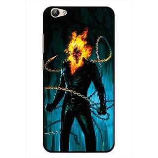 Snooky Printed Ghost Rider Mobile Back Cover For Vivo Y55 - Blue