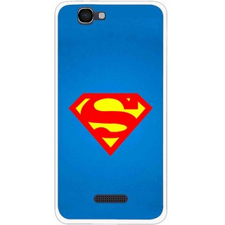 Snooky Printed Super Logo Mobile Back Cover For Micromax Canvas 2 A120 - Blue