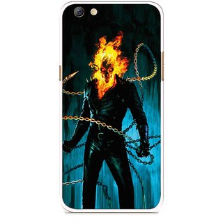 Snooky Printed Ghost Rider Mobile Back Cover For Oppo F3 plus - Blue