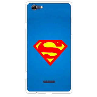 Snooky Printed Super Logo Mobile Back Cover For Micromax Canvas Selfie 3 Q348 - Blue