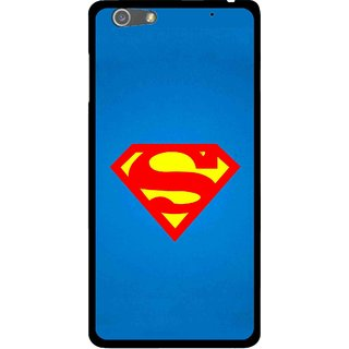 Snooky Printed Super Logo Mobile Back Cover For Oppo R1 - Blue