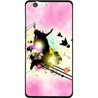 Snooky Printed Flying Man Mobile Back Cover For Gionee Marathon M5 - Pink