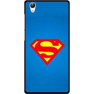 Snooky Printed Super Logo Mobile Back Cover For Vivo Y51L - Blue