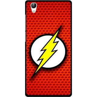 Snooky Printed Dont Touch Mobile Back Cover For Vivo Y51L - Red