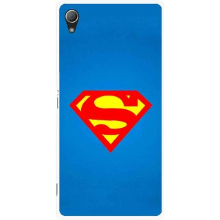 Snooky Printed Super Logo Mobile Back Cover For Sony Xperia Z3 - Blue