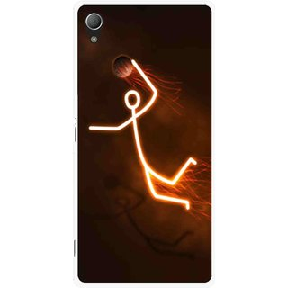 Snooky Printed Burning Man Mobile Back Cover For Sony Xperia Z3 - Brown