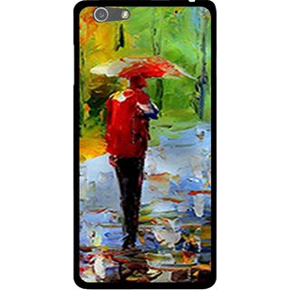 Snooky Printed Painting Mobile Back Cover For Oppo R1 - Multi