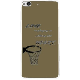 Snooky Printed Heart Games Mobile Back Cover For Gionee Elife E6 - Brown