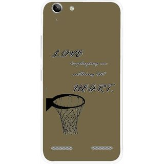 Snooky Printed Heart Games Mobile Back Cover For Lenovo Vibe K5 Plus - Brown