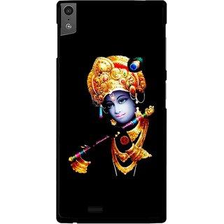 Snooky Printed God Krishna Mobile Back Cover For Gionee Elife S5.5 - Black
