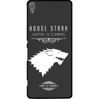 Snooky Printed House Stark Mobile Back Cover For Sony Xperia XA1 - Grey
