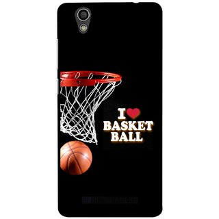 Snooky Printed Love Basket Ball Mobile Back Cover For Gionee F103 - Black