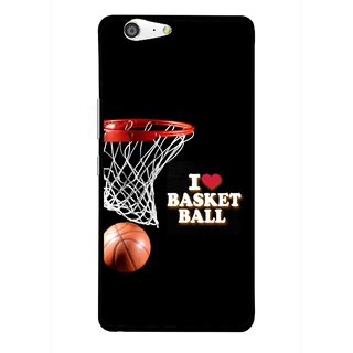 Snooky Printed Love Basket Ball Mobile Back Cover For Gionee Marathon M5 - Black