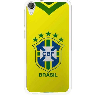 Snooky Printed Brasil Mobile Back Cover For HTC Desire 820 - Yellow