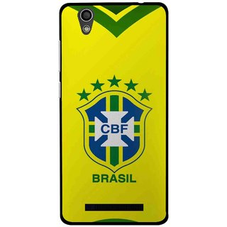 Snooky Printed Brasil Mobile Back Cover For Gionee F103 - Yellow