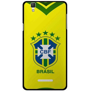 Snooky Printed Brasil Mobile Back Cover For Coolpad Dazen F2 - Yellow