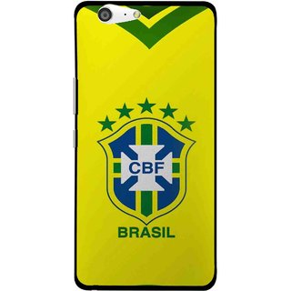Snooky Printed Brasil Mobile Back Cover For Gionee Marathon M5 - Yellow